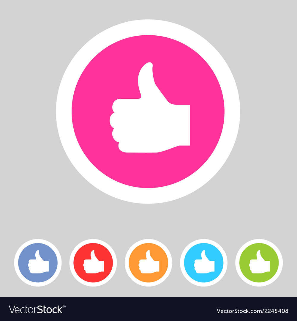 Flat game graphics icon thumbs up vector | Price: 1 Credit (USD $1)