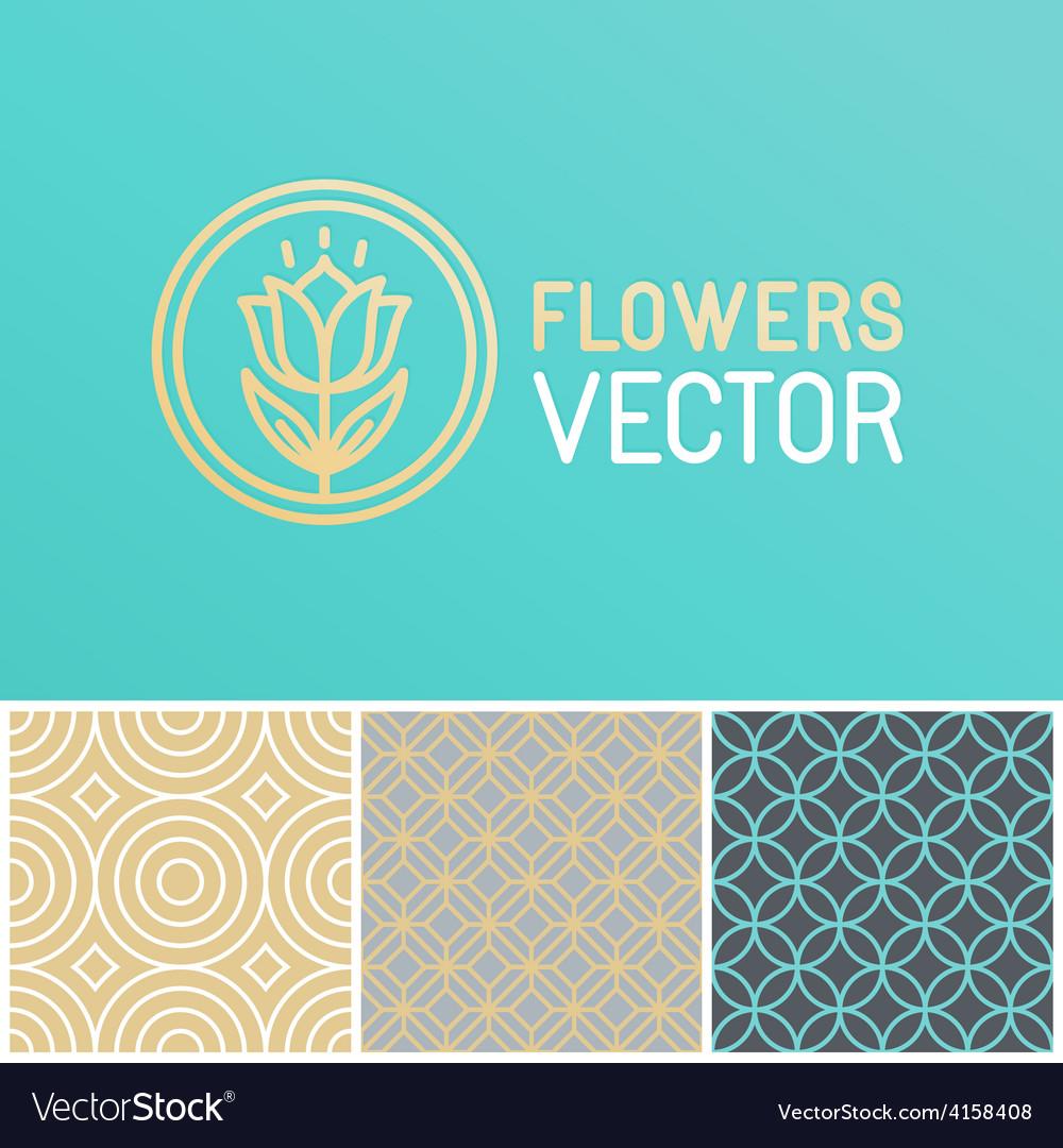 Floral logo design element vector | Price: 1 Credit (USD $1)