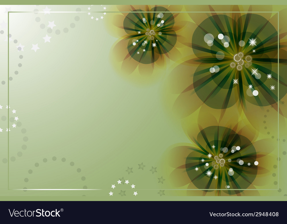 Flowers on the greeting card vector | Price: 1 Credit (USD $1)
