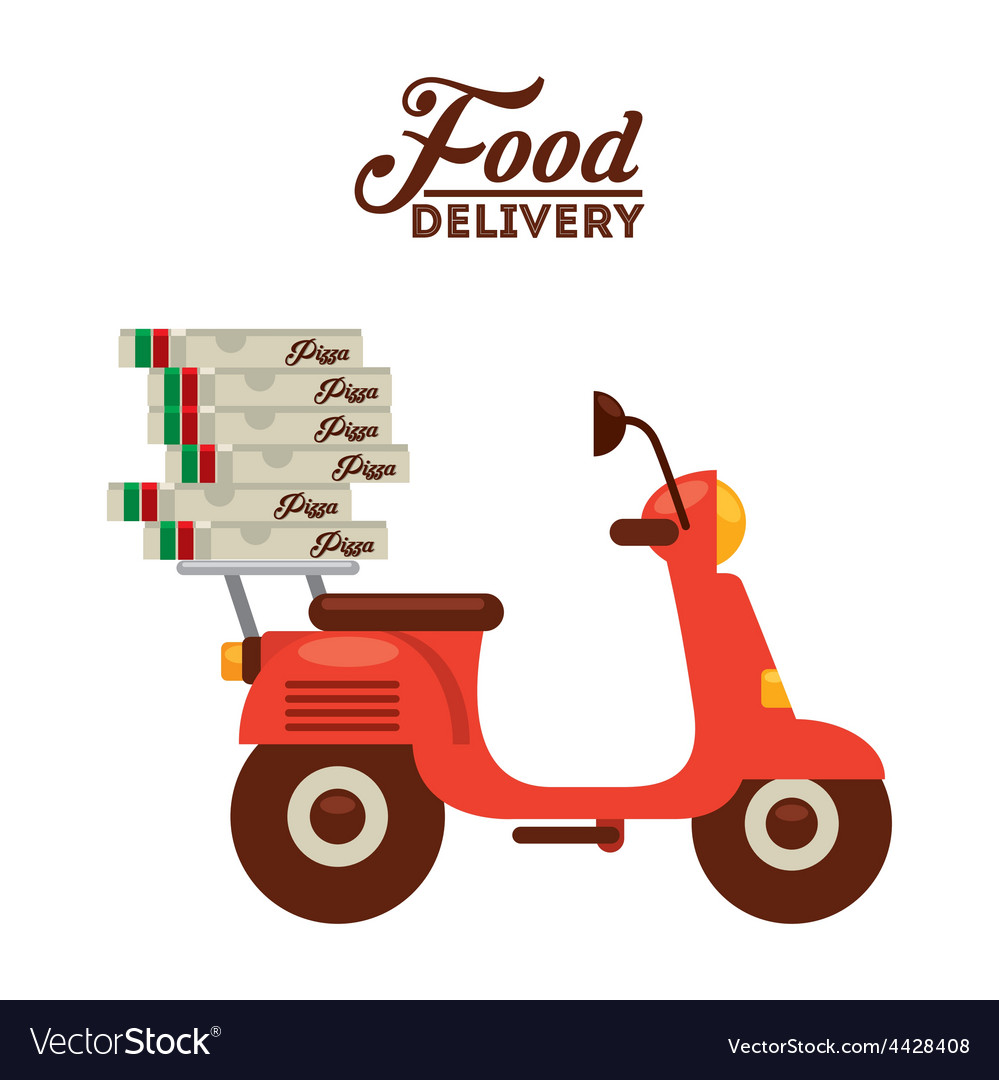 Food delivery vector   Price: 1 Credit (USD $1)