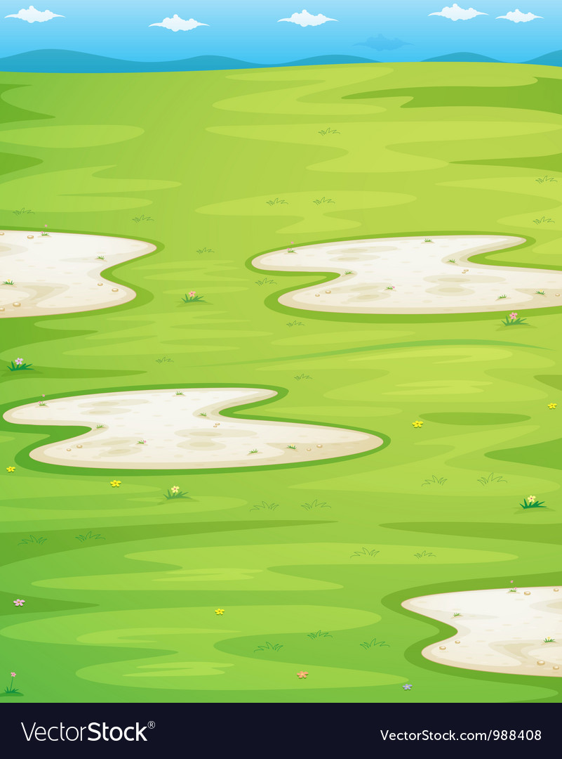 Grass field vector | Price: 1 Credit (USD $1)