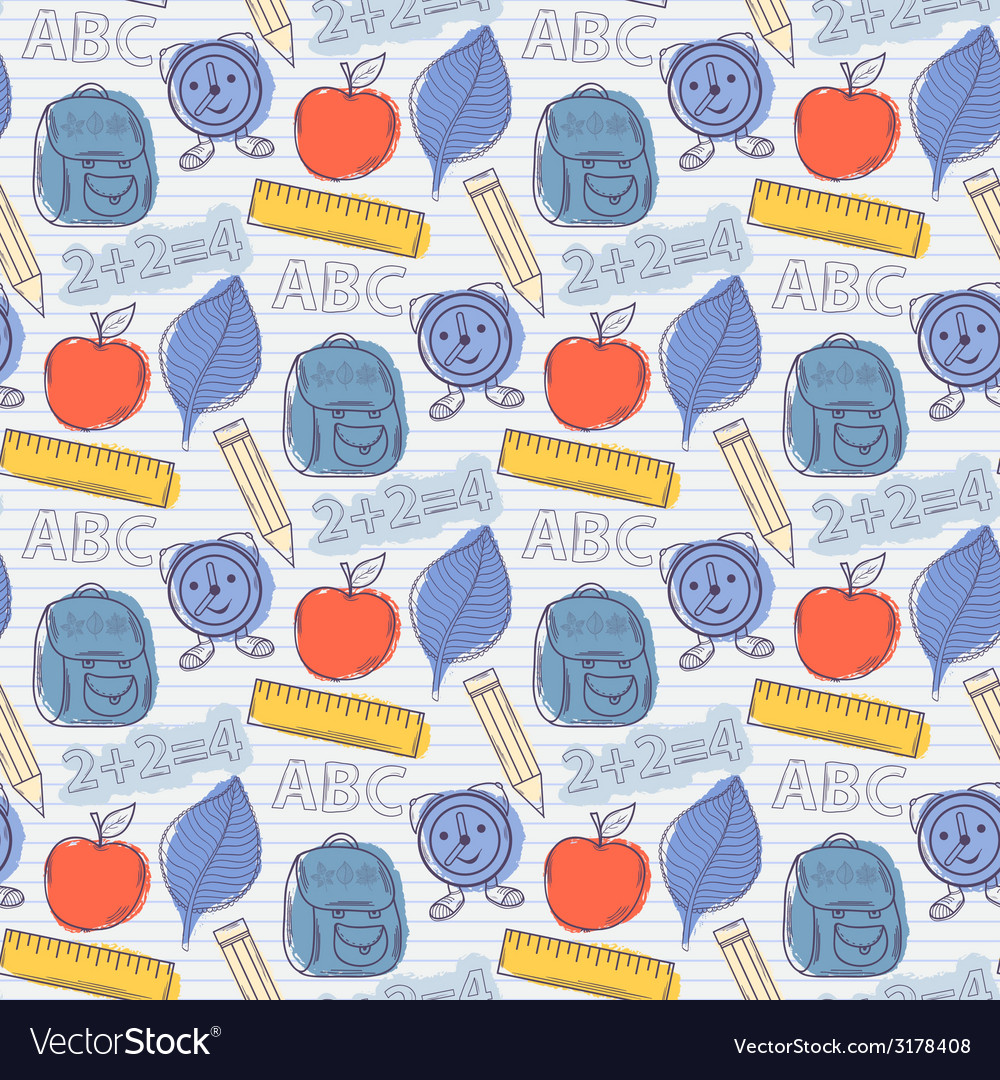 Seamless school pattern vector | Price: 1 Credit (USD $1)