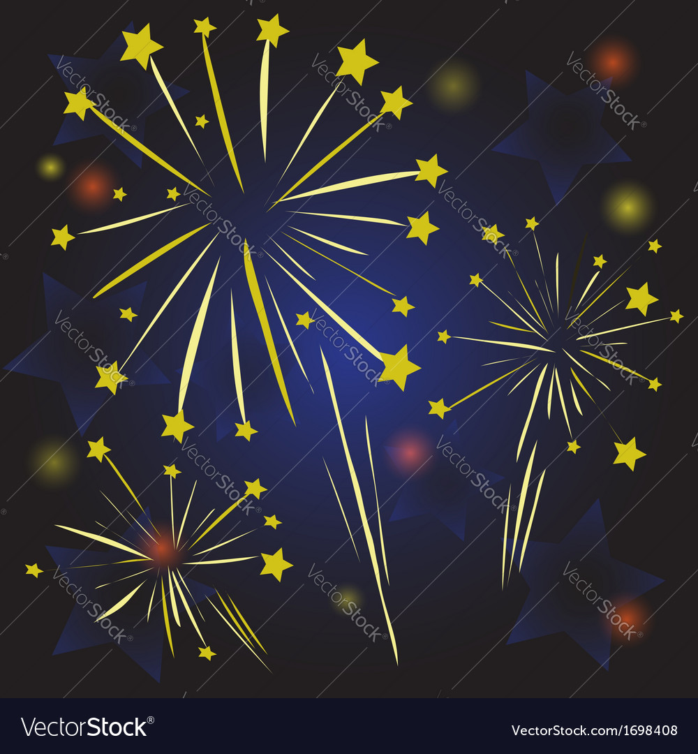 Starry fireworks vector | Price: 1 Credit (USD $1)