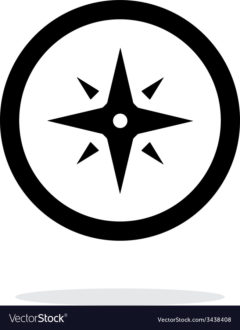Wind rose icon on white background vector   Price: 1 Credit (USD $1)