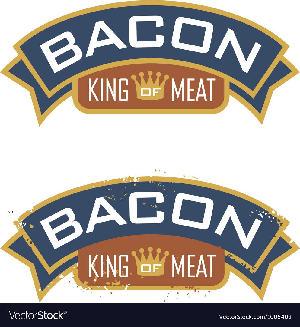 Bacon emblem vector | Price: 1 Credit (USD $1)