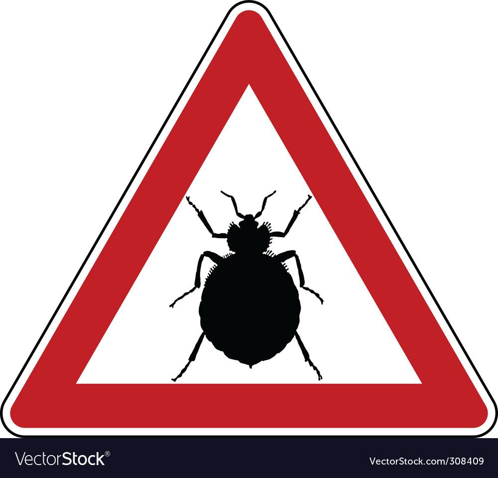 Bedbug warning sign vector | Price: 1 Credit (USD $1)