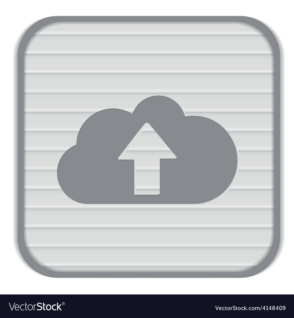 Cloud download icon download files vector | Price: 1 Credit (USD $1)