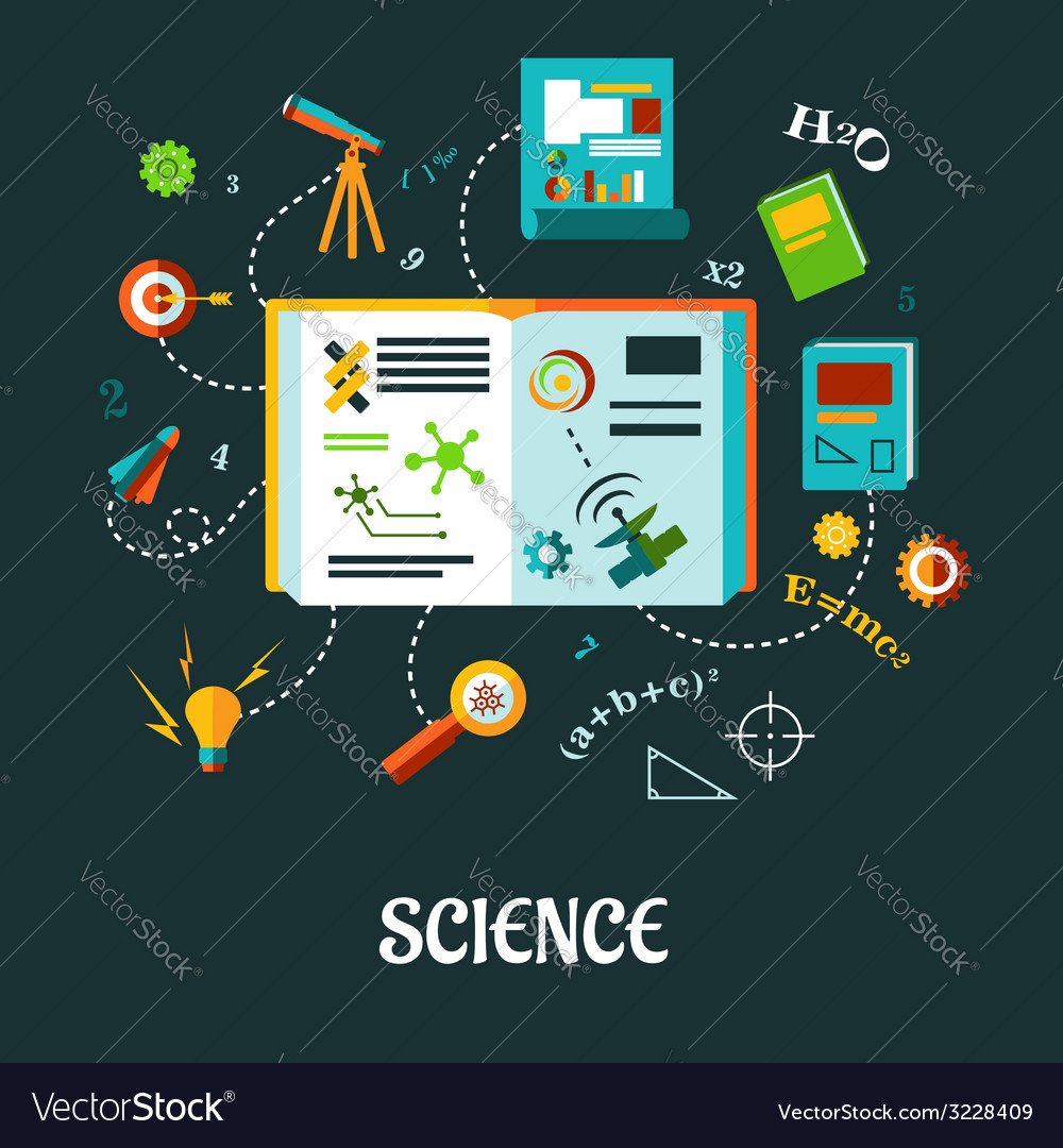 Creative science flat concept vector   Price: 1 Credit (USD $1)