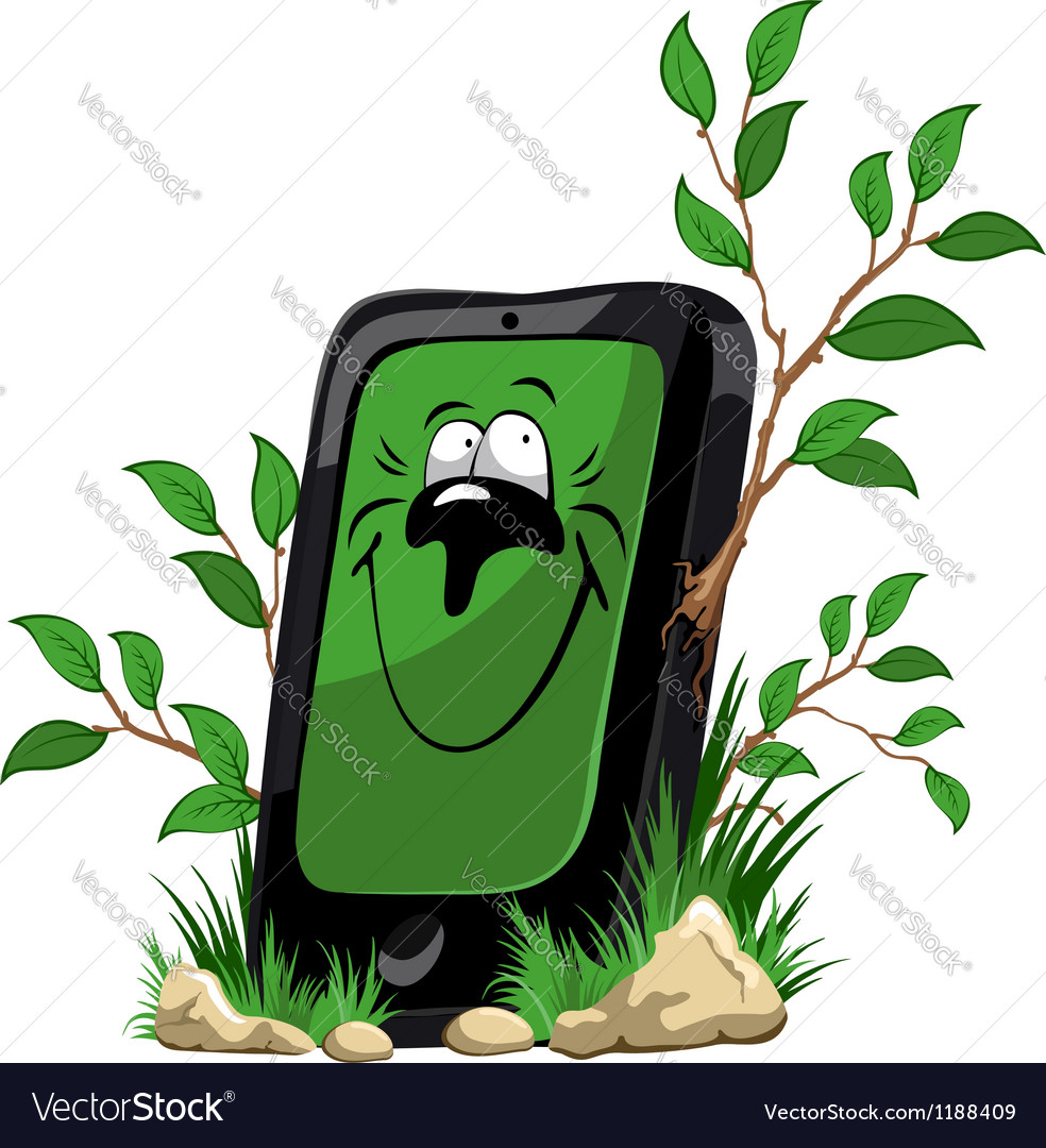 Ecology mobile phone vector | Price: 3 Credit (USD $3)