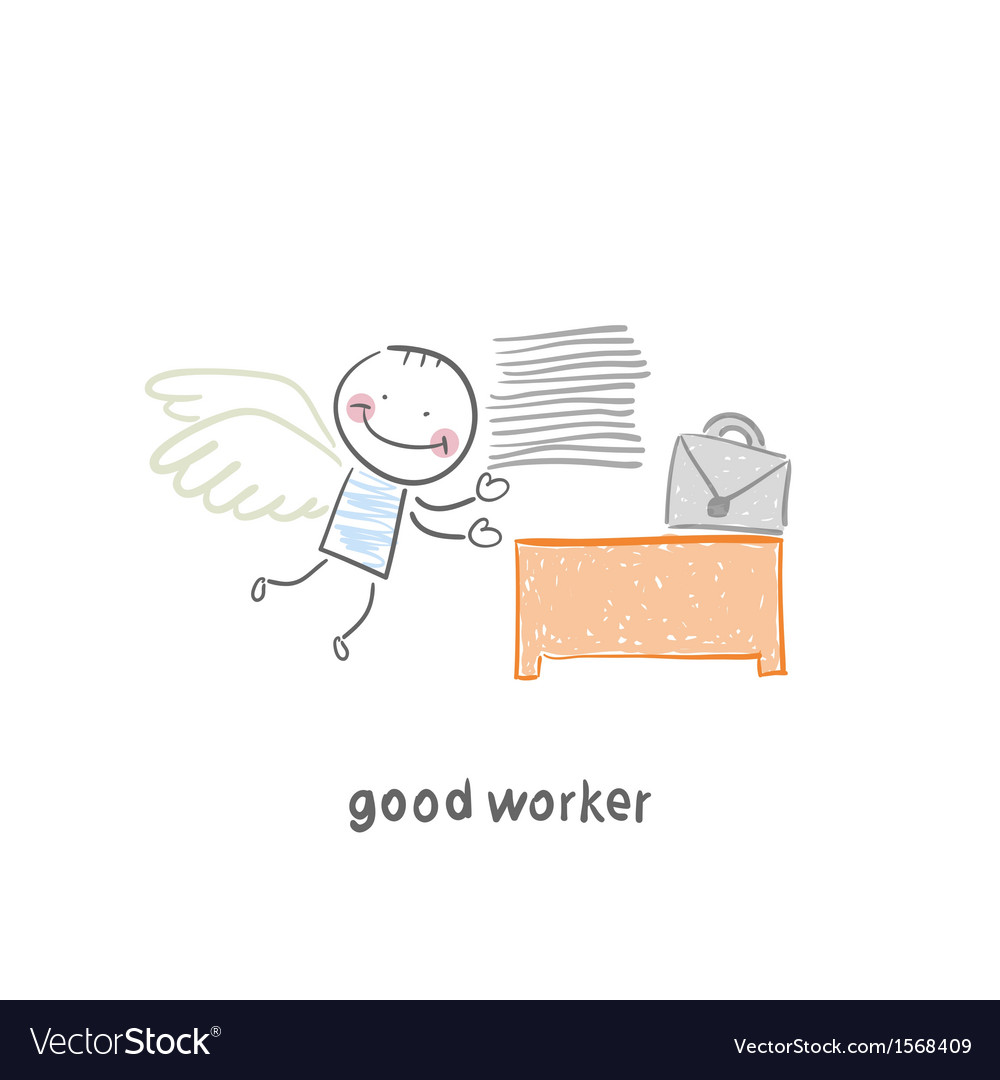 Good worker vector | Price: 1 Credit (USD $1)