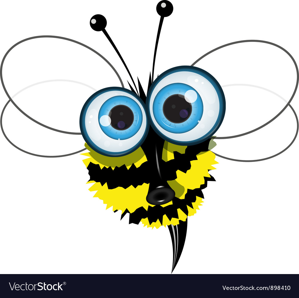 Angry buzzy bee vector | Price: 1 Credit (USD $1)