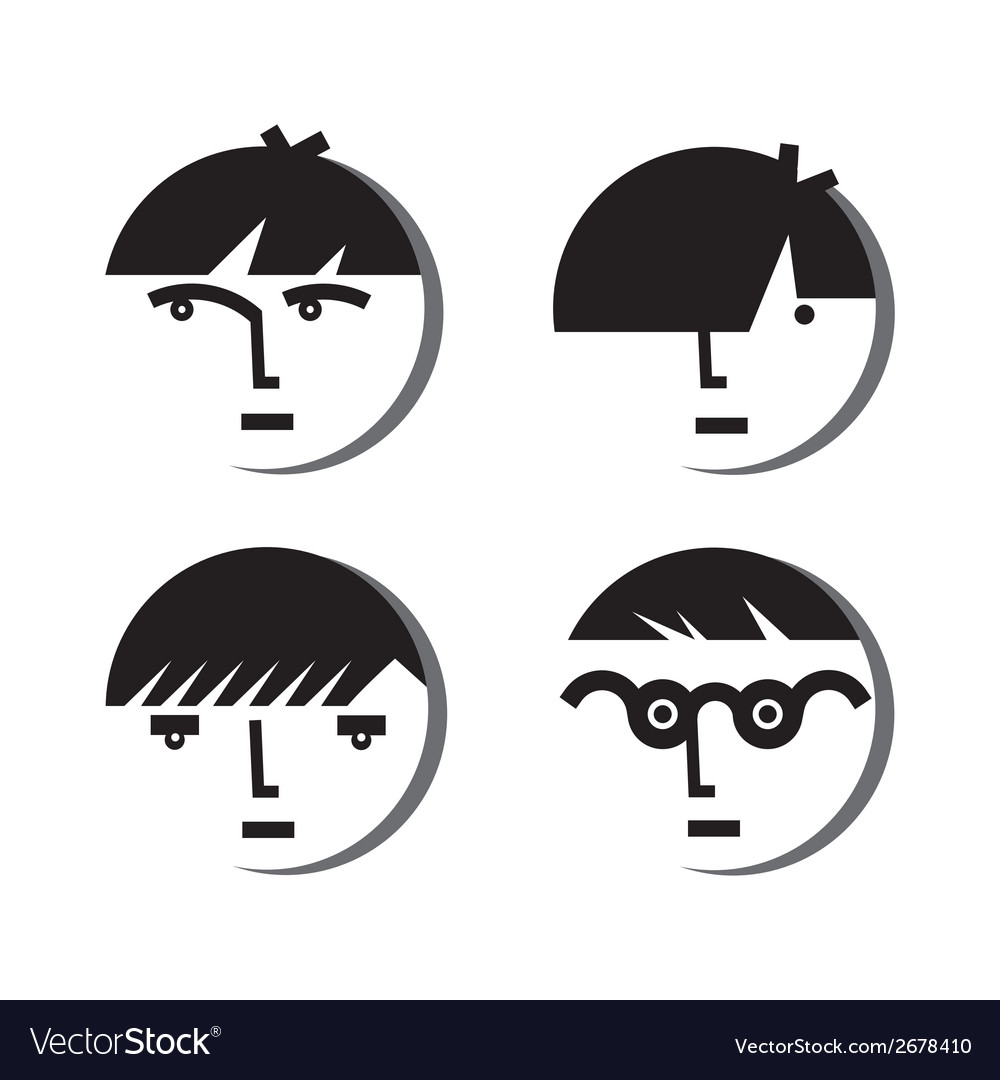 Boy avatar icons vector | Price: 1 Credit (USD $1)