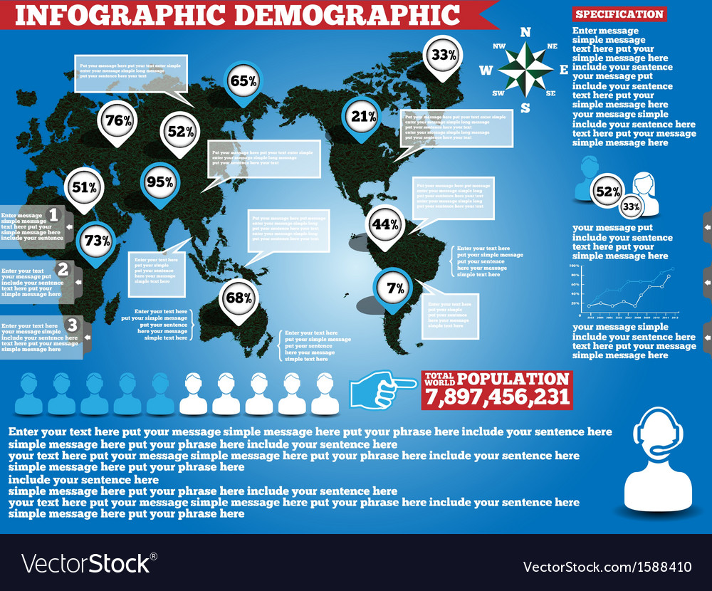 Infographic demographic ecological grass vector | Price: 1 Credit (USD $1)