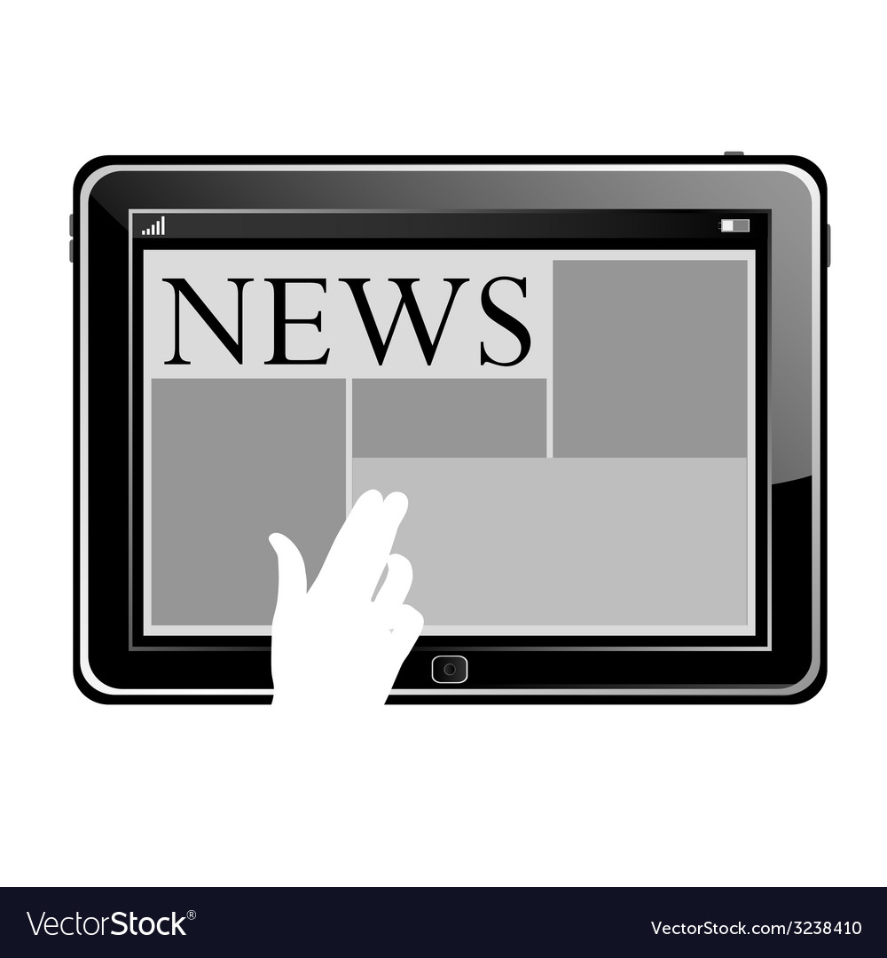 News on a tablet vector | Price: 1 Credit (USD $1)