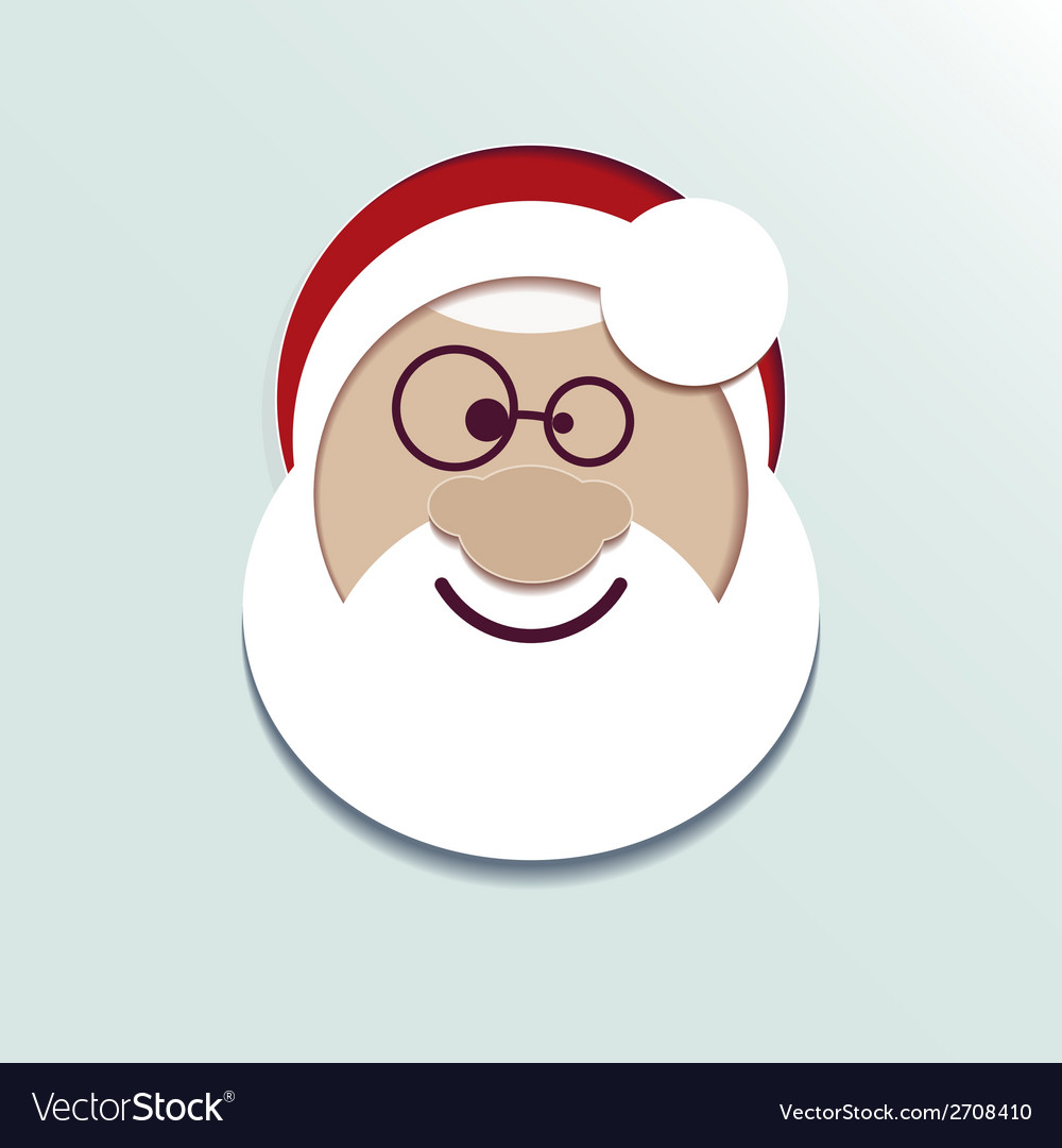 Paper head santa claus vector | Price: 1 Credit (USD $1)
