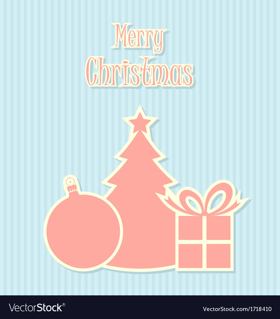 Retro style christmas decoration vector | Price: 1 Credit (USD $1)