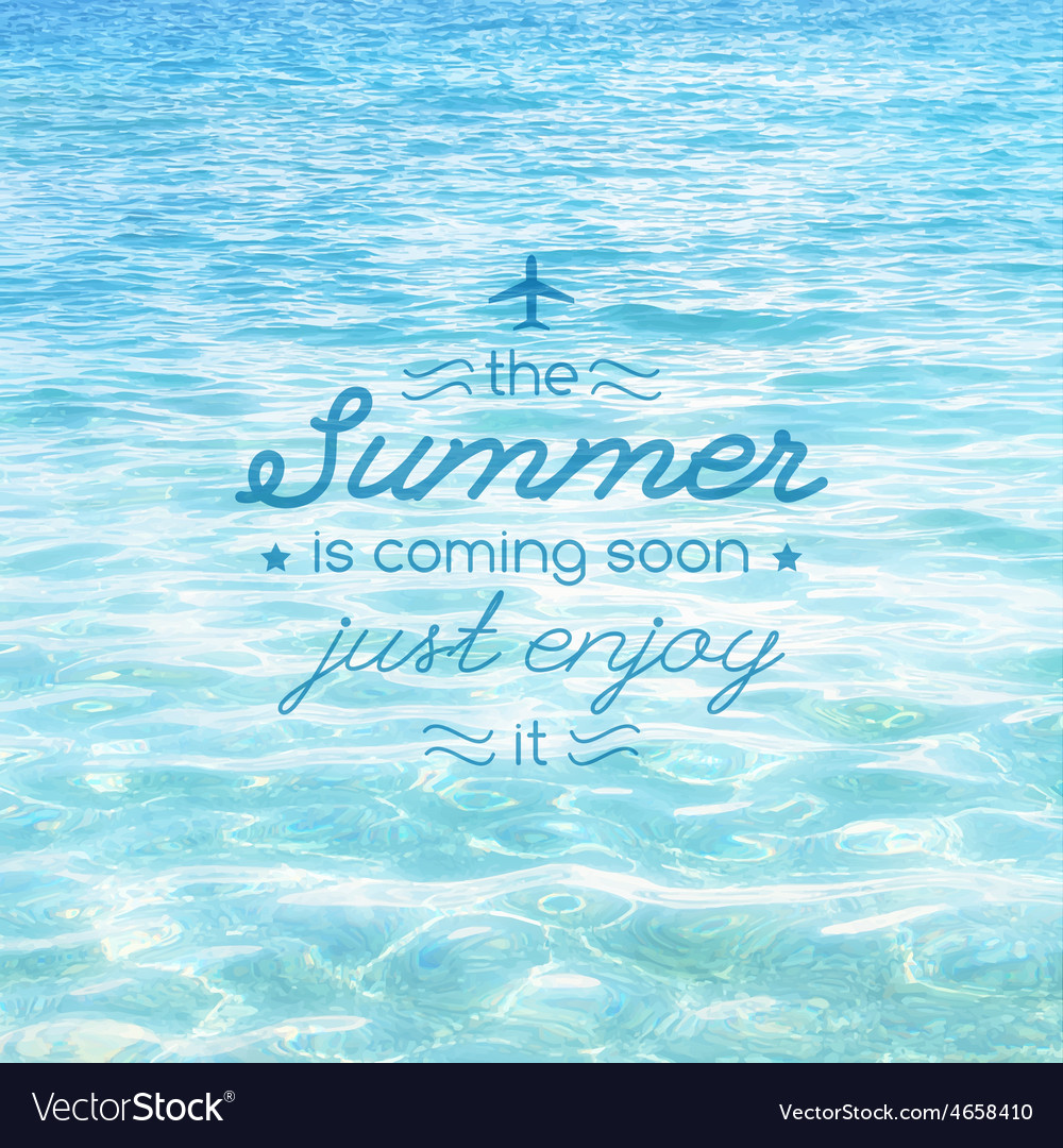 Summer is coming text vector | Price: 1 Credit (USD $1)
