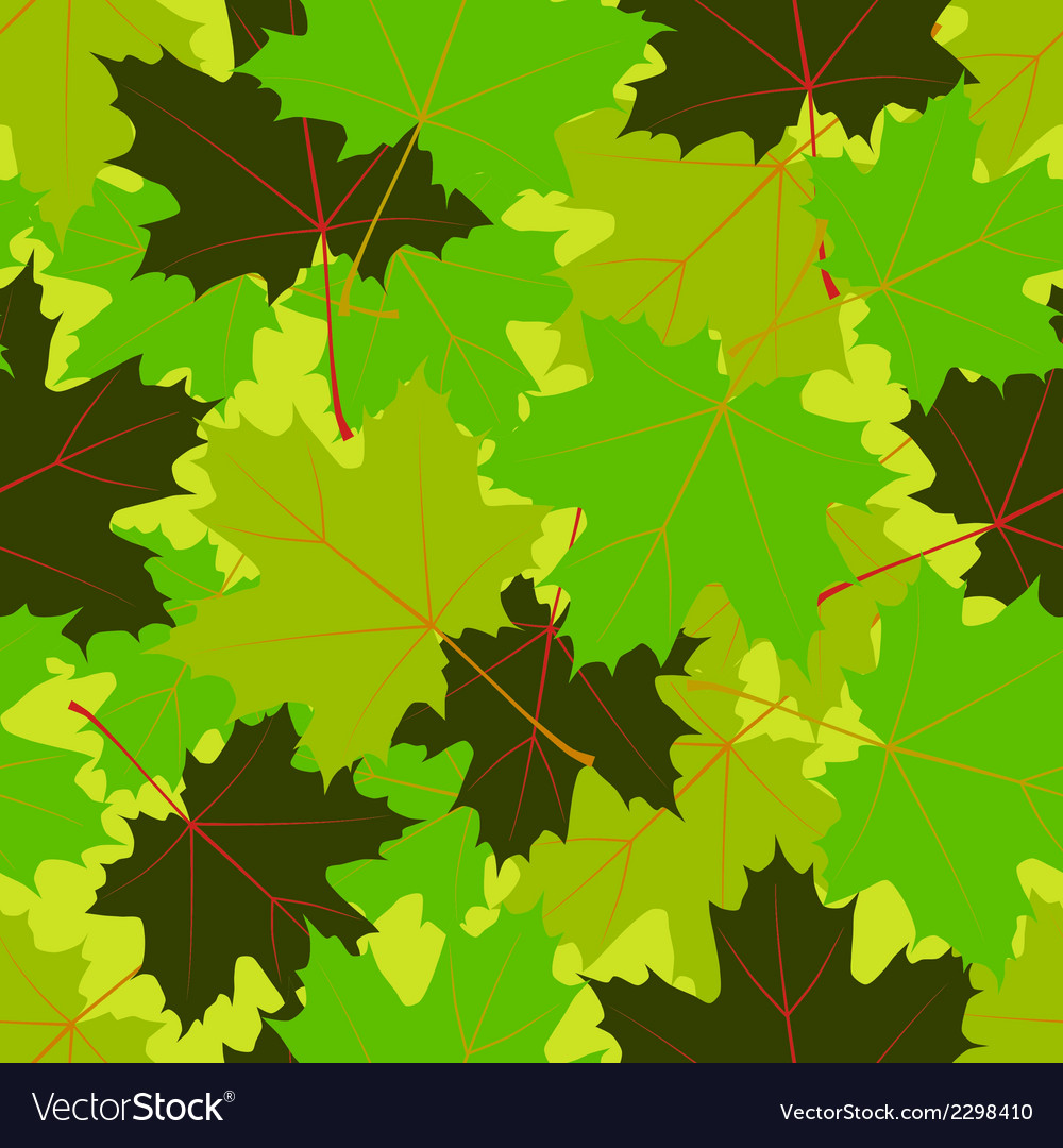 Summer leaves seamless pattern vector | Price: 1 Credit (USD $1)