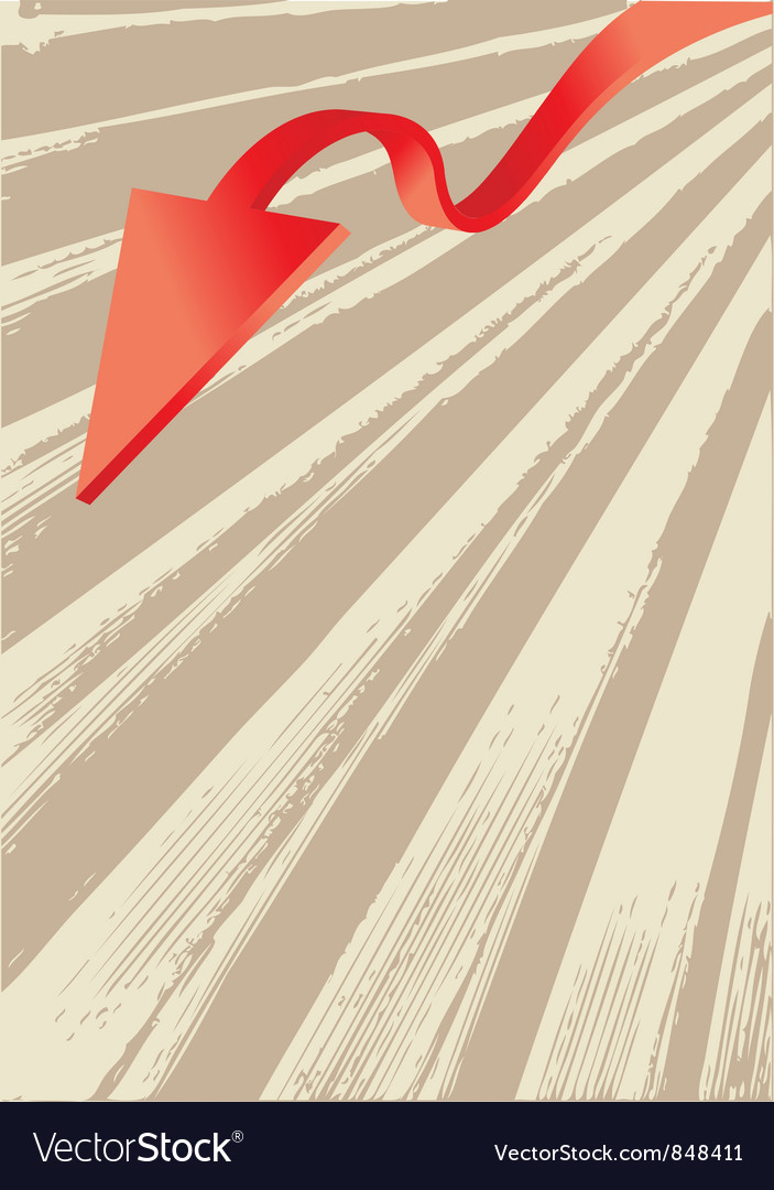 Abstract arrow design vector | Price: 1 Credit (USD $1)