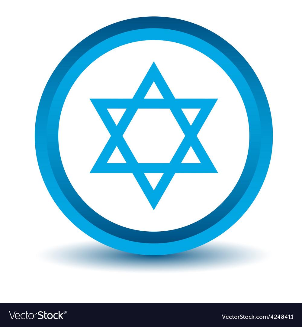 Blue judaism icon vector | Price: 1 Credit (USD $1)