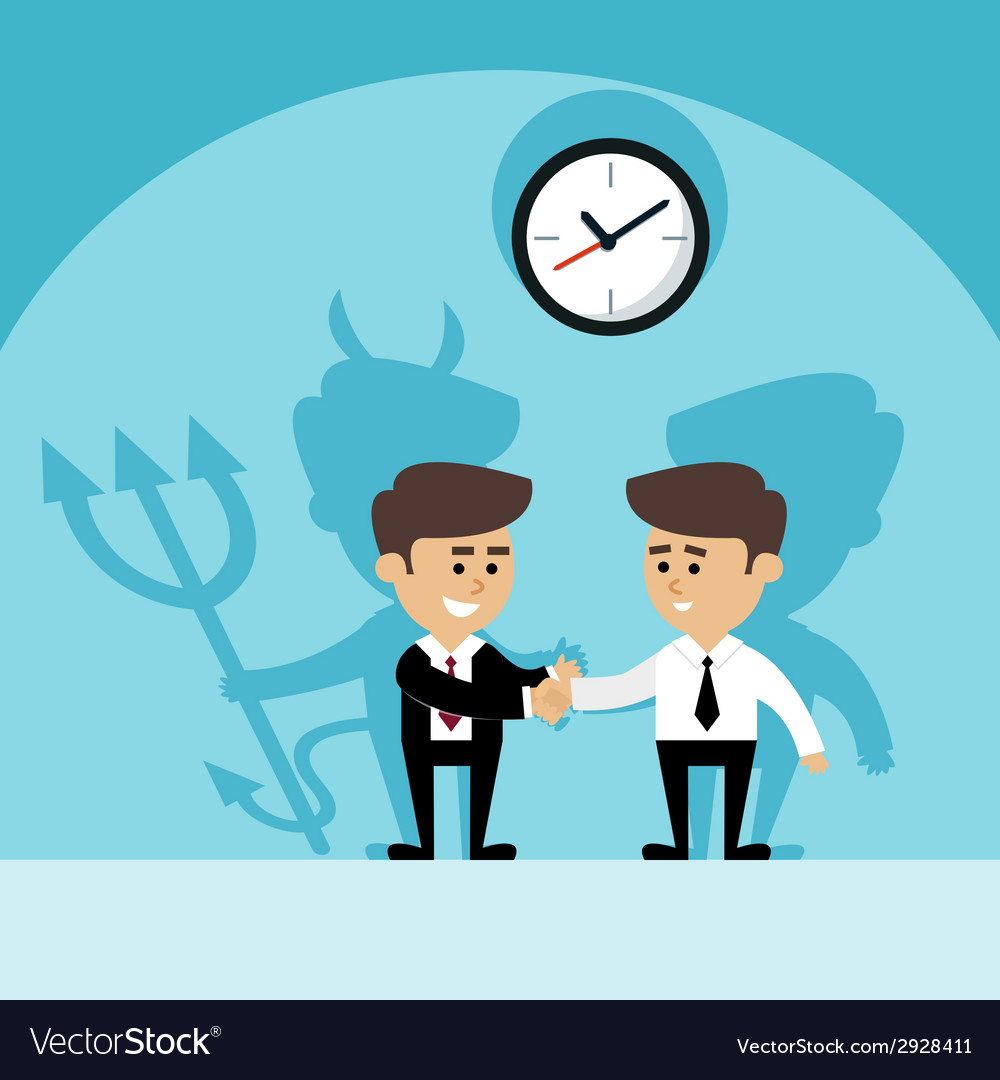 Businessman devil shadow vector | Price: 1 Credit (USD $1)