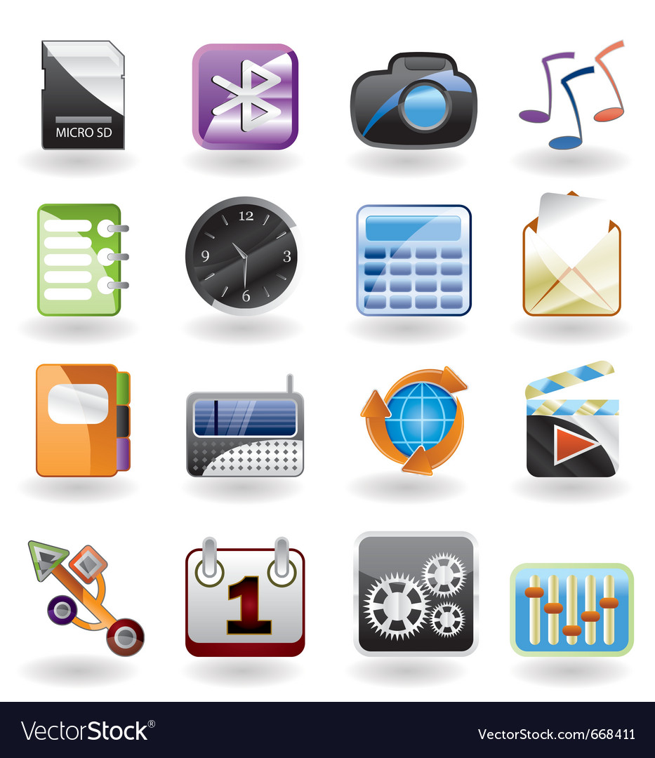 Phone performance and office icon vector   Price: 1 Credit (USD $1)