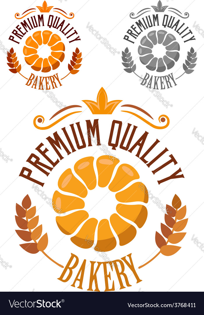 Premium bakery badge or label vector | Price: 1 Credit (USD $1)
