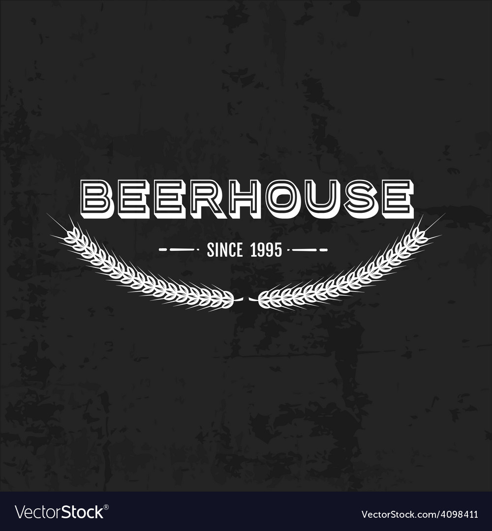 Vintage beer emblem vector | Price: 1 Credit (USD $1)