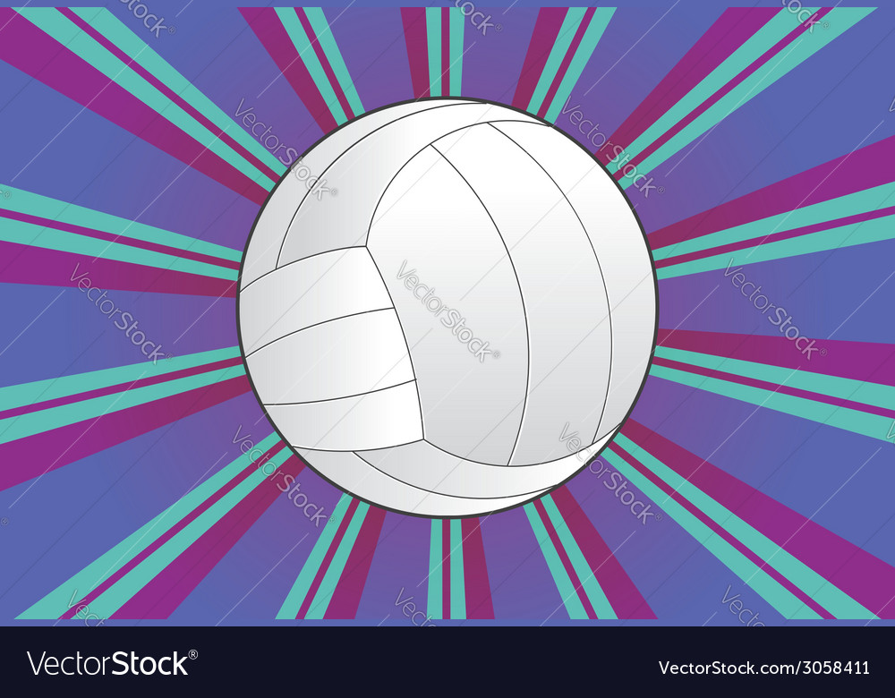 Volleyball ball background vector | Price: 1 Credit (USD $1)