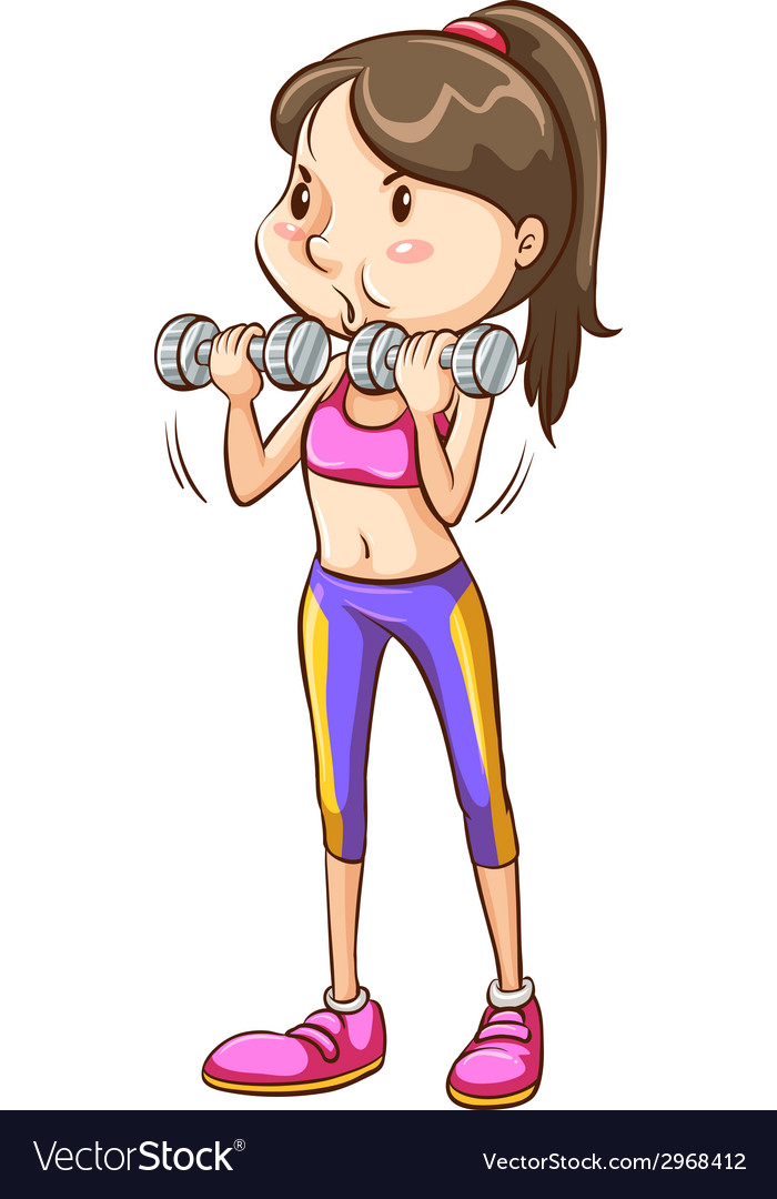 A simple coloured sketch of a girl exercising vector   Price: 1 Credit (USD $1)