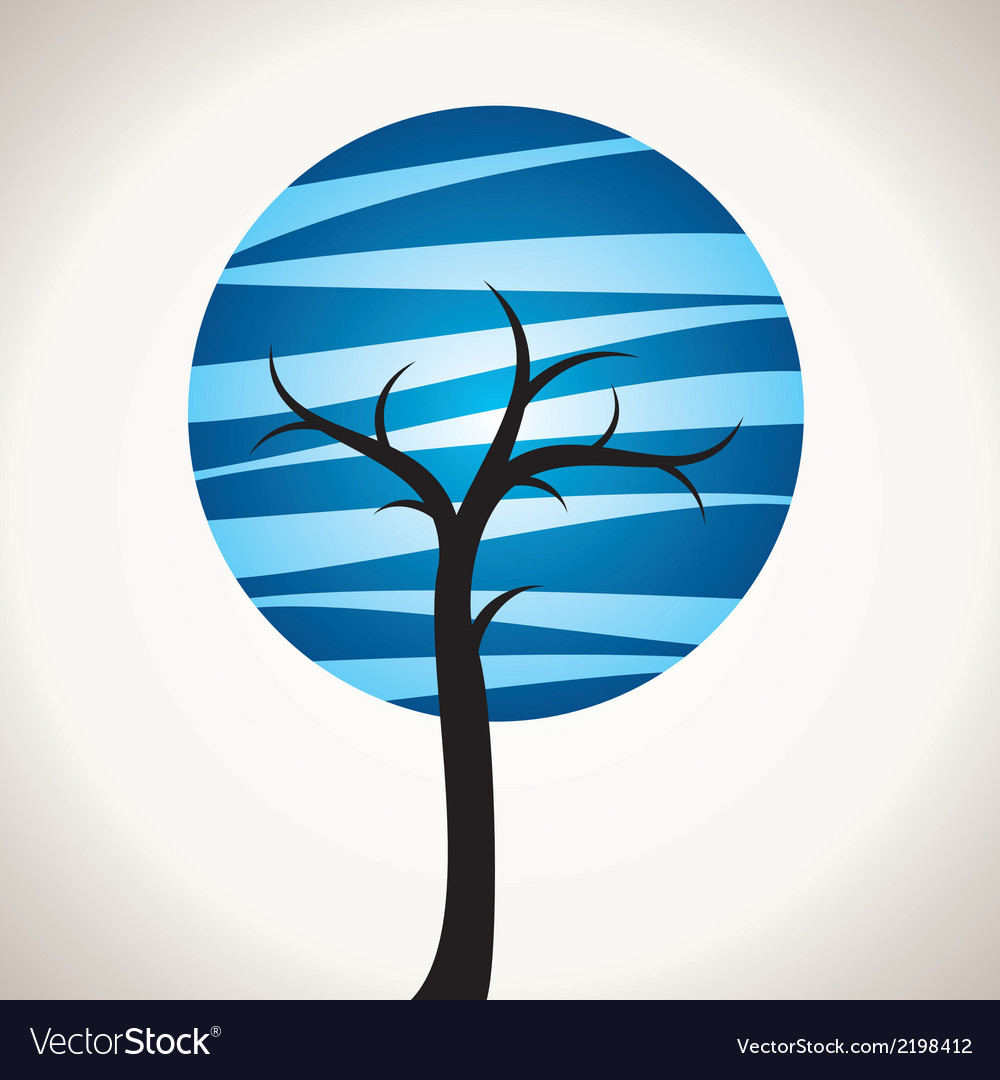 Abstract blue tree vector | Price: 1 Credit (USD $1)