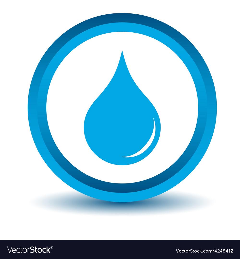 Blue drop icon vector | Price: 1 Credit (USD $1)