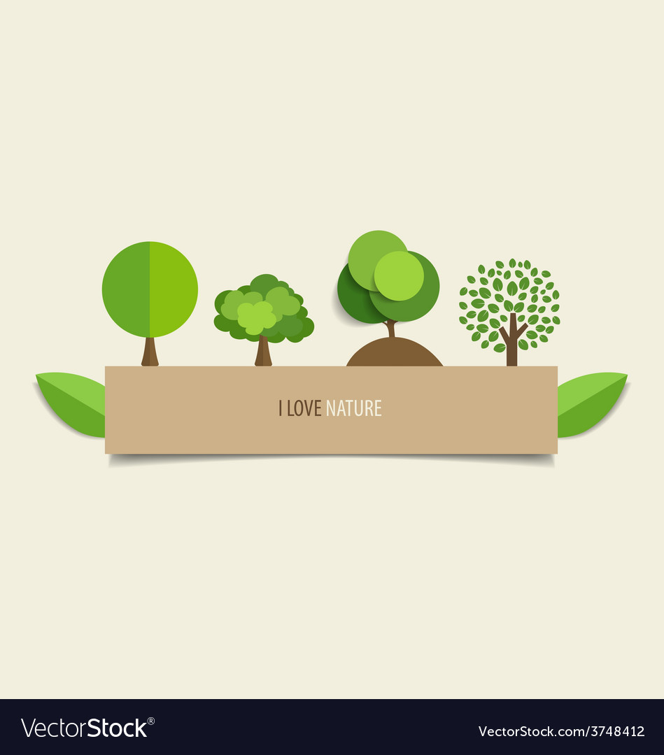 Collection of design tree vector | Price: 1 Credit (USD $1)