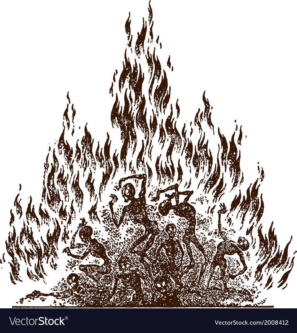 Fire of hell vector | Price: 1 Credit (USD $1)