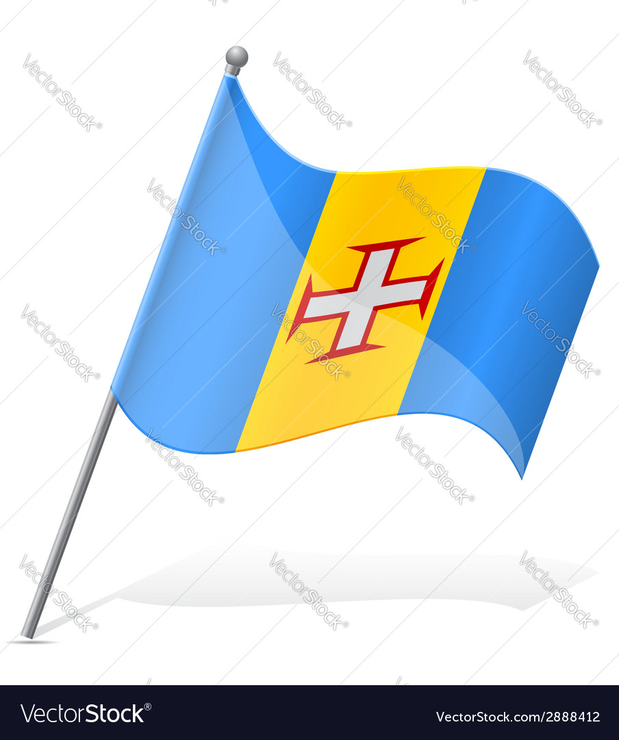 Flag of madeira vector | Price: 1 Credit (USD $1)