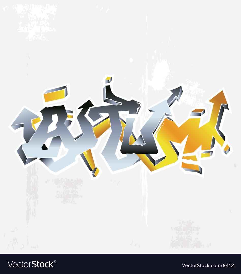 Graffiti autumn vector | Price: 1 Credit (USD $1)