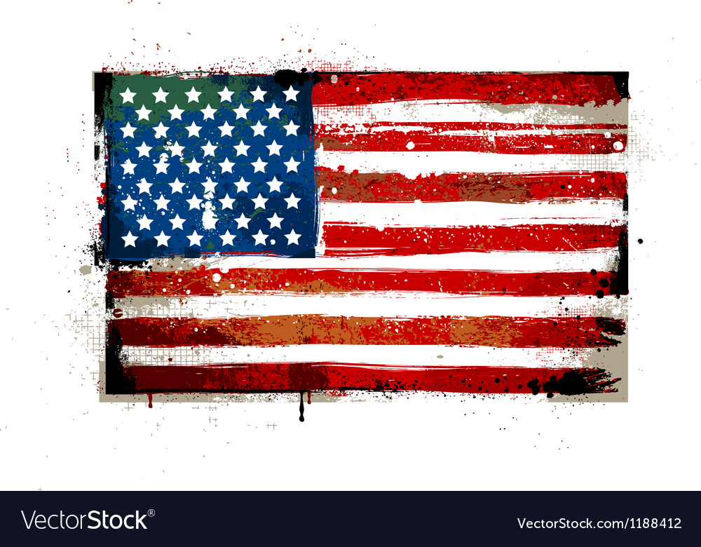Grungy usa flag vector | Price: 1 Credit (USD $1)