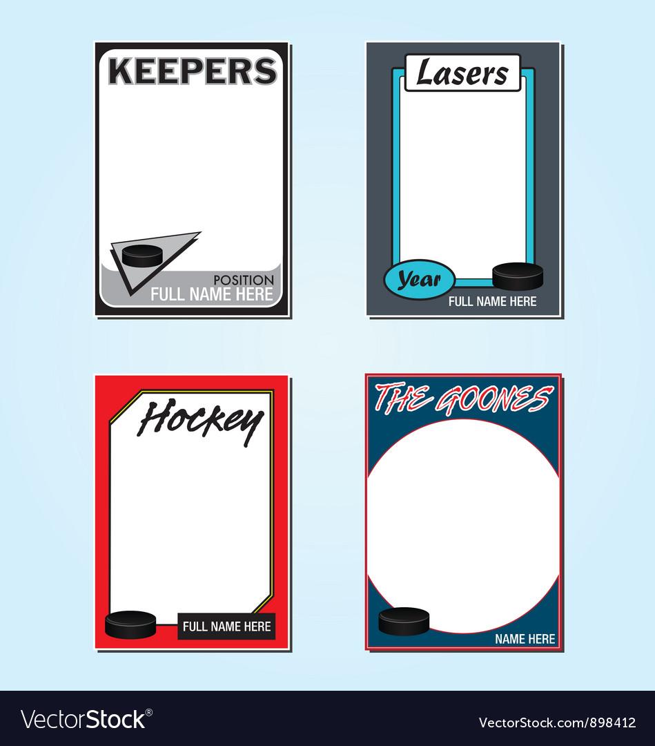 Hockey cards vector | Price: 1 Credit (USD $1)