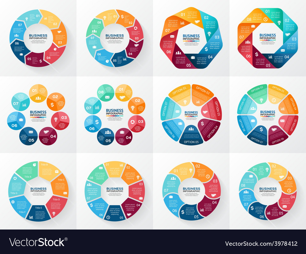 Infographics set collection of templates vector