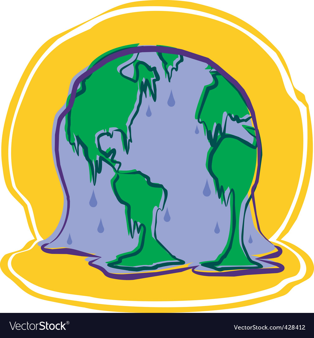 Melting earth vector | Price: 1 Credit (USD $1)