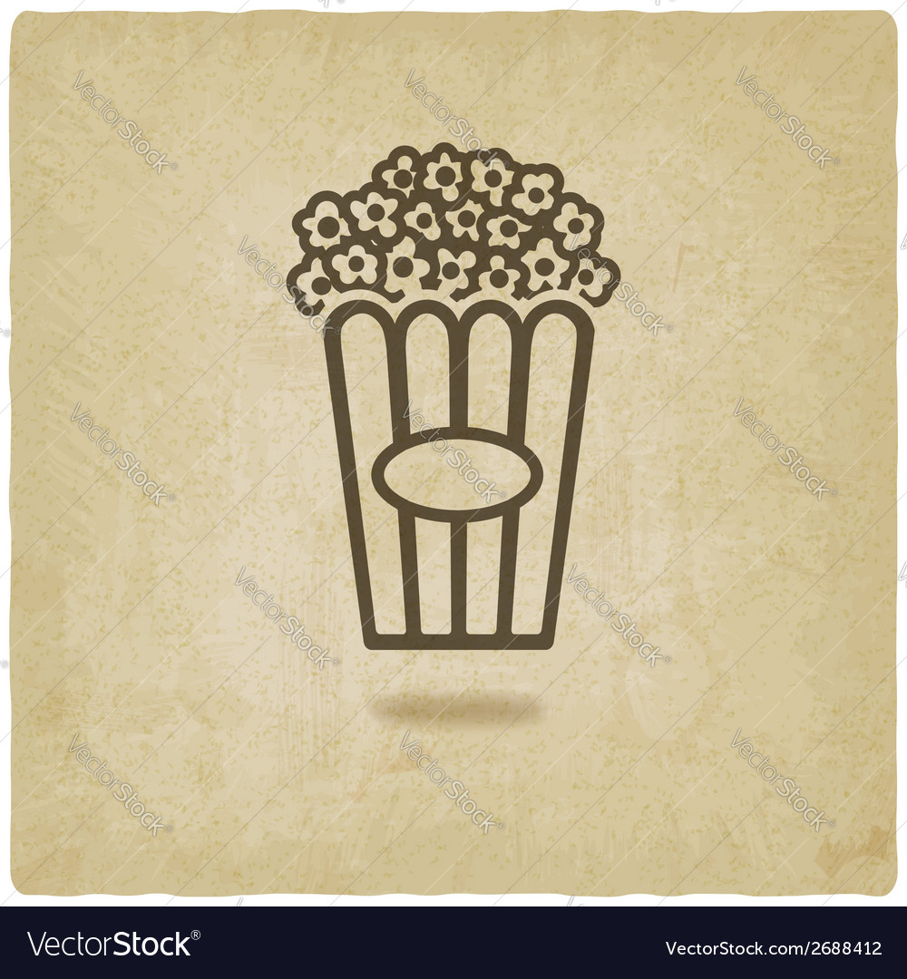 Popcorn old background vector | Price: 1 Credit (USD $1)