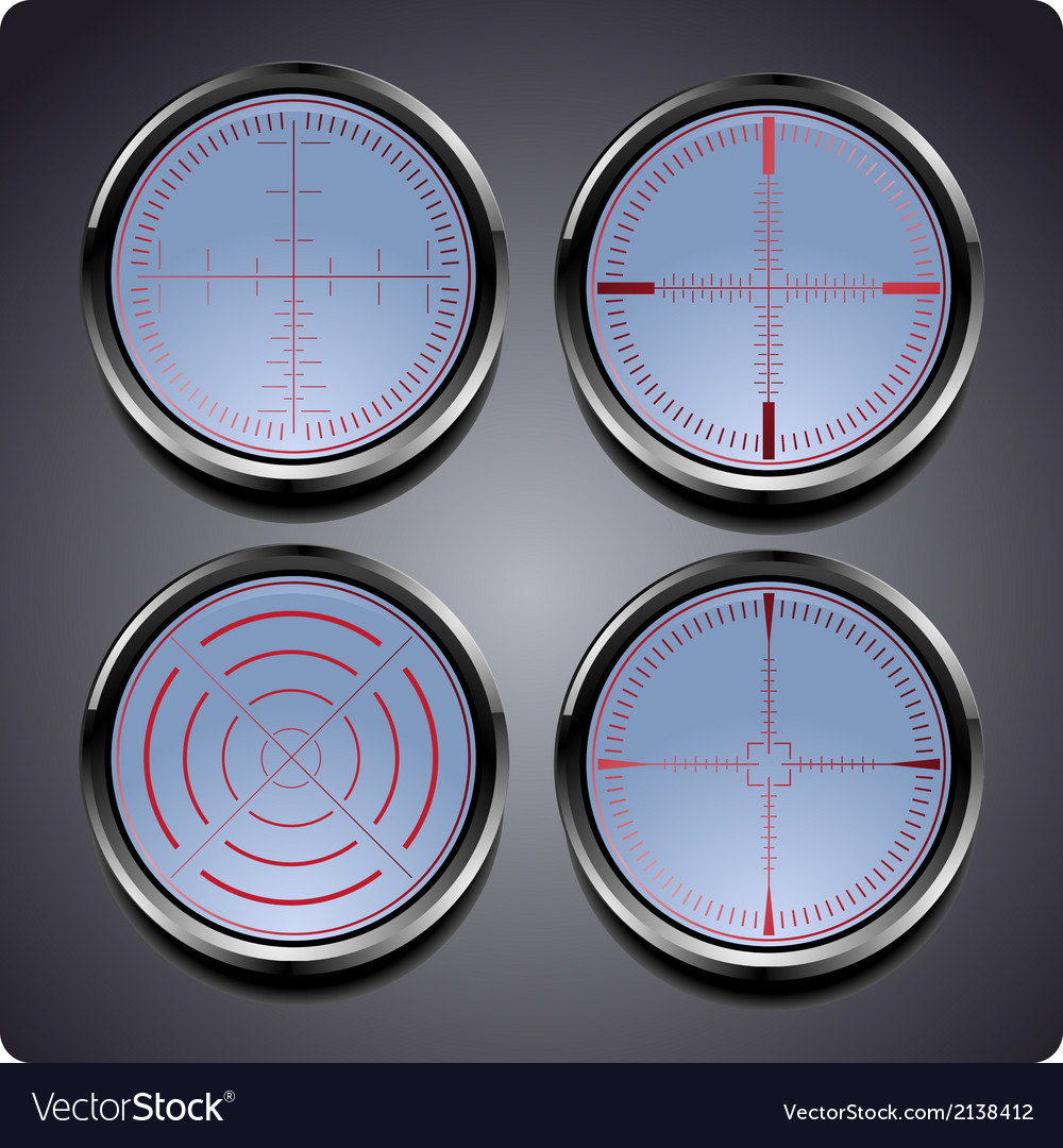 Set of four different crosshairs vector | Price: 1 Credit (USD $1)