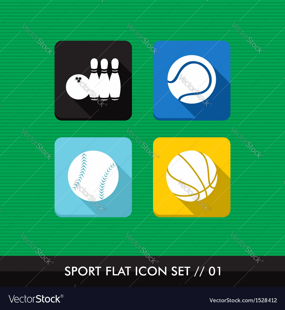 Sports flat icons set vector   Price: 1 Credit (USD $1)