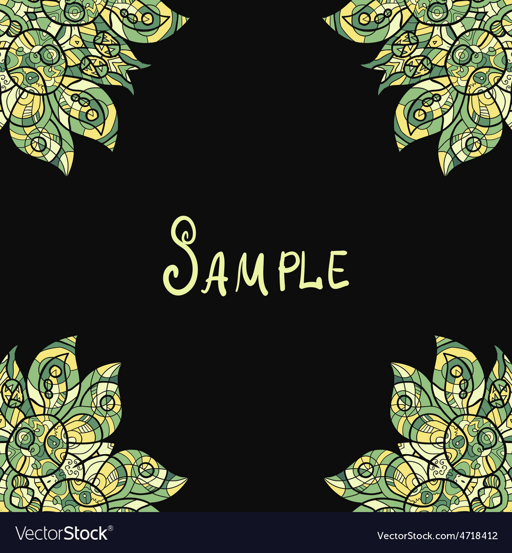 Template for menu greeting card invitation or vector | Price: 1 Credit (USD $1)
