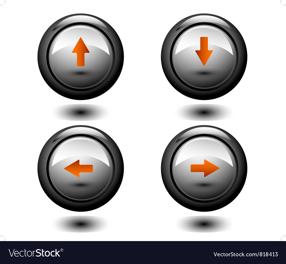 Arrows round button vector | Price: 1 Credit (USD $1)