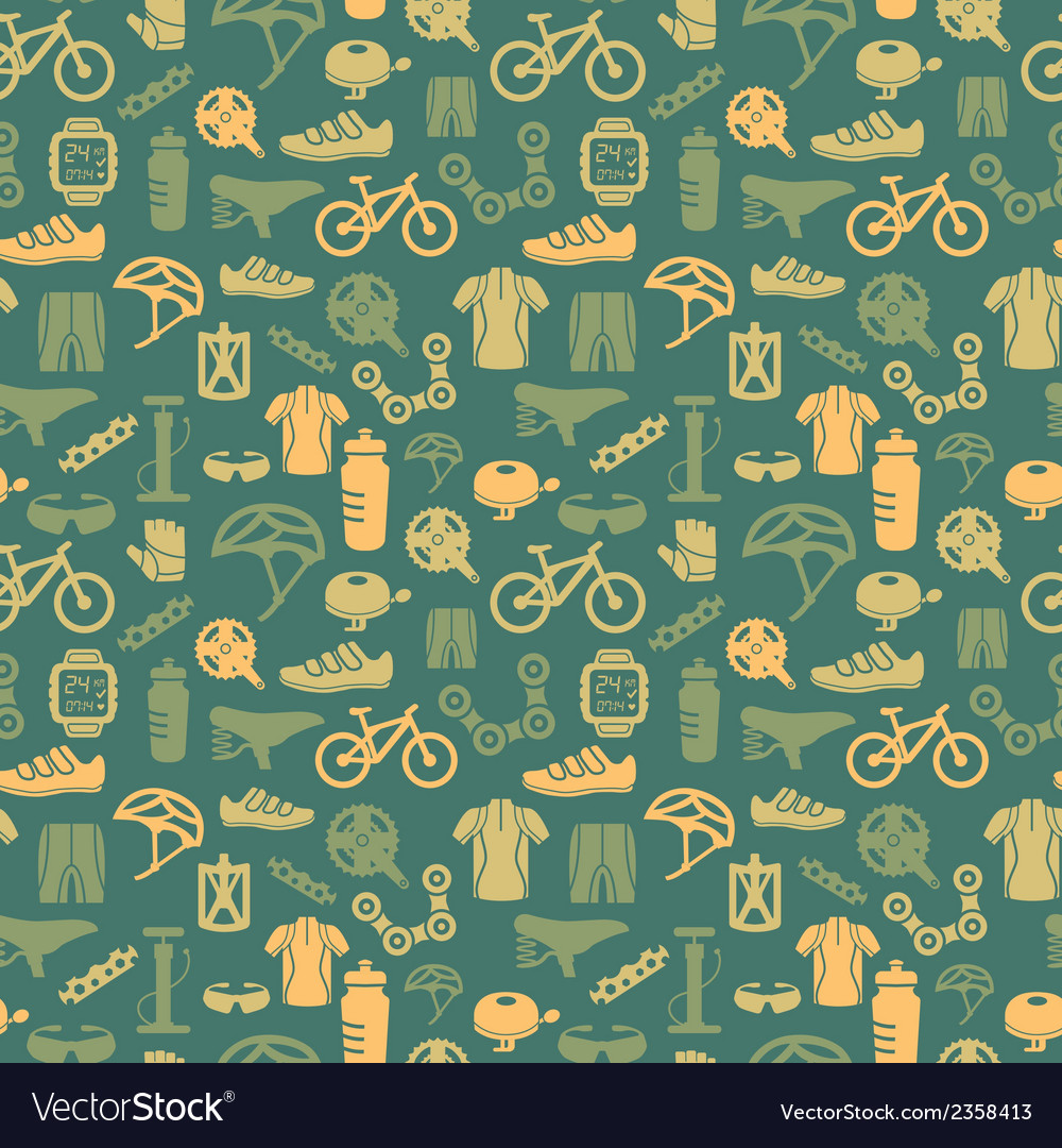 Bike seamless pattern vector | Price: 1 Credit (USD $1)
