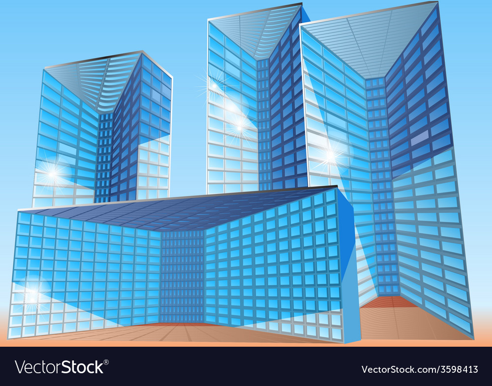 Business office building vector | Price: 1 Credit (USD $1)