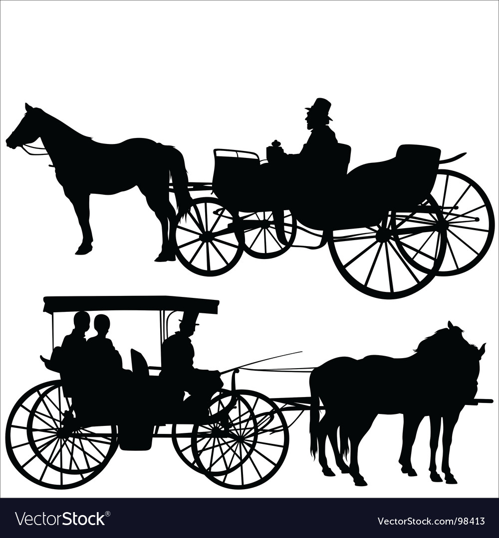 Carriage silhouettes vector | Price: 1 Credit (USD $1)