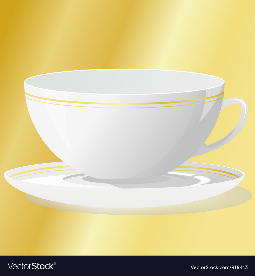 Cup with saucer vector | Price: 1 Credit (USD $1)