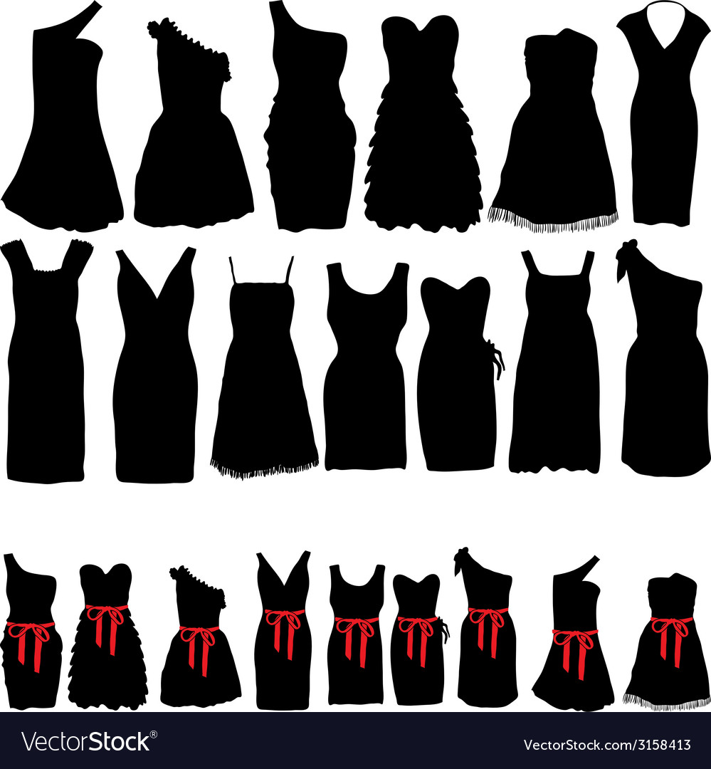 Dresses for parties vector | Price: 1 Credit (USD $1)